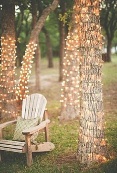Rustic outdoor wedding lighting idea #weddinglighting #wedding http://www.roughluxejewelry.com/