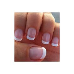 Gel French manicure ❤ liked on Polyvore featuring beauty products, nail care, nails, outfit and gel nail care