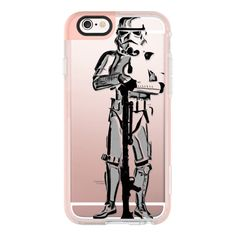 iPhone 6 Plus/6/5/5s/5c Case - Star Wars Stormtrooper Semi-Transparent... ($40) ❤ liked on Polyvore featuring accessories, tech accessories, iphone case, iphone cover case, apple iphone cases and iphone hard cases