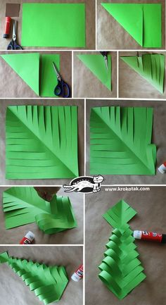 Pattern for Christmas bread. My mother in law made christmas bread using this idea. DIY Paper Christmas Trees