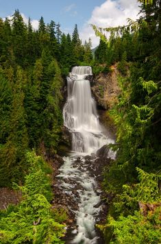 Long exposure of Alexander Falls, near Whistler, BC Canada Oh The Places You'll Go, Places To Travel, Travel Destinations, Places To Visit, Whistler, Western Canada, All Nature, Amazing Nature, Photos Voyages