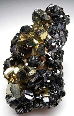 """""""There's fool's gold—pyrite—and then there's fool's gold—gold owned by idiots willing to trade it for worthless dollars."""" ― Jarod Kintz    Sphalerite on Pyrite"""