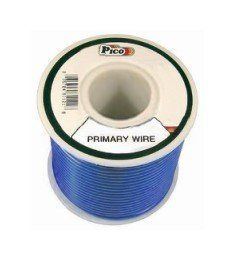 Pico 81185J 18 AWG Blue Primary Wire 50' per Package by Pico. $5.95. Single Conductor copper stranded primary wire with the highest quality polyvinyl chloride insulation providing the best in flexibility, permanent color and resistance to acids, grease, oil and diesel fumes. Primary wire is manufactured to meet all SAE Type J1128 specifications and will work safely between the operating temperatures of -40°F and 165°F.. Save 37% Off!