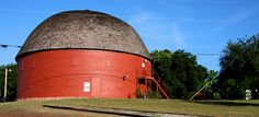 """At 60' in diameter and 45' in height the Round Barn in Arcadia claims to be the only """"true"""" round barn: """"most are actually hexagonal or octagonal"""". Built i"""