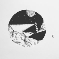 Up for graps as tattoo design or print! First come, first serve, small price. #tattoo #design #forsale #illustrator #illustration #darkartists #artist #artwork #art #instaart #drawing #sketch #draw #blackwork #blackworkers #blackandwhite #mountain #nature #explore #lighthouse #sea #moon #dotwork #linework #instafollow #evasvartur