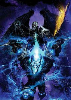 Cover for Ghost Rider: Danny Ketch (Marvel, 2008 series) Marvel Comics Art, Marvel Heroes, Marvel Characters, Blue Ghost Rider, Ghost Rider Marvel, Ghost Hunters, Comic Books Art, Comic Art, Ghost Rider Wallpaper