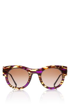 Punchy Sunglasses In Purple Tortoise by Thierry Lasry Now Available on Moda Operandi