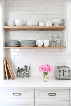 Peonies + Brass: loving lately: natural wood in the kitchen