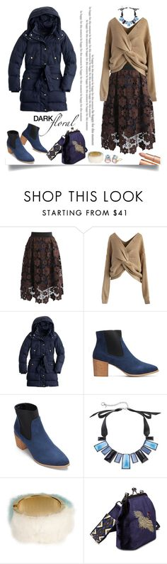 """""""Untitled #14"""" by craftsperson ❤ liked on Polyvore featuring Chicwish, J.Crew, Simply Vera, Oui, Odile!, Christina Addison and darkflorals"""
