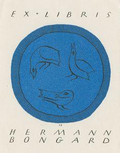 Ekslibris, Hermann Bongard | by Øklands trykksaker