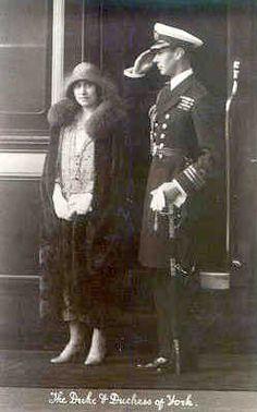 Herzog und Herzogin von York, später George VI. und Königin Elisabeth von England | by Miss Mertens