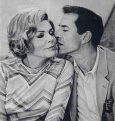 Barbara Bain and her then husband, Martin Landau