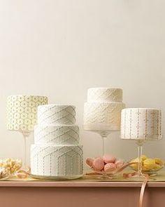 Wedding cakes inspired by Japanese Sashiko stitching from Martha Stewart