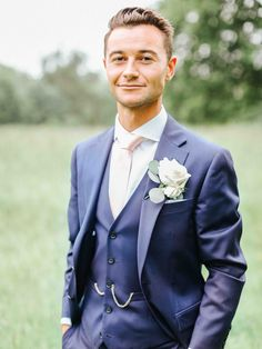 Groom in Navy Charles Tyrwhitt Suit | Belle and Beau Fine Art Photography