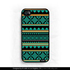 iPhone 4 case iPhone 4s case  Mint Aztec Design iPhone by CRAFIC, $15.99