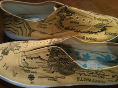 Tolkien Inspired Hand Painted Shoes by YellowReason on Etsy