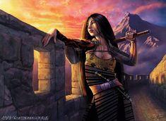 Female Samurai, Samurai Art, Amaterasu, Character Concept, Character Art, Character Design, Fantasy Characters, Female Characters, Fictional Characters