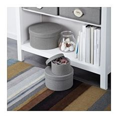 IKEA - KVARNVIK, Box, set of 3, gray,  , , Suitable for storing small items like jewelry, scarves or other accessories.