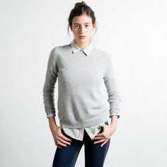 The Crew - Light Grey – Everlane | Cashmere sweater