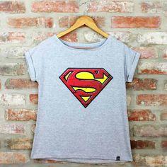06aea1c9e0cd2 Camiseta Feminina Superman Pelcula - Superman Loja Geek - Tudo sobre o  mundo geek e nerd