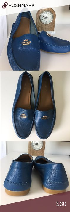 COACH Royal Blue Odette Casual Loafers Super comfortable Coach brand slip on shoes rarely worn. Coach Shoes Flats & Loafers