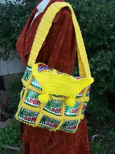 Vintage Mountain Dew Pepsi soda beer can purse diy upcycle hippie boho shoulder bag | eBay
