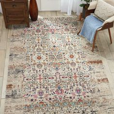 Vintage Kashan Ivory Rug by Nourison - Fy Best Picture For antique rugs grey For Your Taste You are Nourison Rugs, Turquoise Rug, Moraira, Color Beige, Types Of Rugs, Traditional Rugs, Border Design, My Living Room, Persian Rug