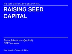 Primer on raising seed capital for first time and experienced startup founders and employees. In this slideshare, I provide insight into the following question…
