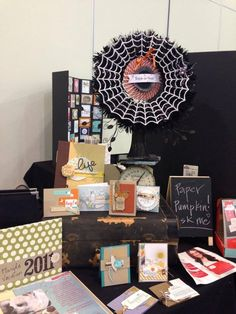Decorate for Halloween! - StampinByTheSea.com Crop Display showing the Frightful Wreath Simply Created kit from Stampin' Up!