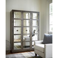 Mirror and Wood 3-Panel Ensemble Wardrobe - 19087860 - Overstock.com Shopping - Big Discounts on Armoires