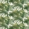 An explosion of 70's inspired Palm leaves, creates this stunning design. Shown in the rich green on off white colourway. Please ignore dimensions below – the actual dimensions of this stunning digital wallpaper are: W180cm x H 300cm. The single roll comprises of 4 x 3m lengths, each 45cm wide. Wall coverage per roll is 5.4 m2 Paste the wall product.