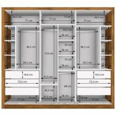 Standard Wardrobe Closet Design Guidelines - Engineering Discoveries Wardrobe Interior Design, Wardrobe Door Designs, Wardrobe Design Bedroom, Master Bedroom Closet, Bedroom Furniture Design, Closet Designs, Modern Wardrobe, Hallway Furniture, Bedroom Door Design