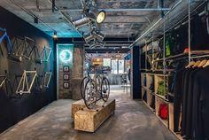 ilia estudio interiorismo: El diseño de una tienda de bicicletas en Shanghai.