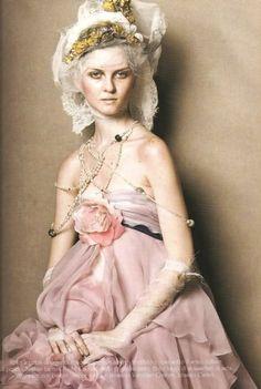 Marie Antoinette for Vogue Italia Mar. 2005 by Steven Meisel