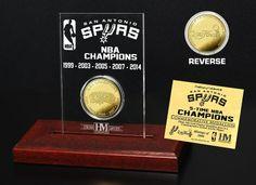 AAA Sports Memorabilia LLC - San Antonio Spurs Five Time NBA Champs Mint Coin, #sanantoniospurs #spurs #nba #nbafinals #nbacollectibles #sportscollectibles #sportsmemorabilia $39.99 (http://www.aaasportsmemorabilia.com/nba/san-antonio-spurs-five-time-nba-champs-mint-coin/)