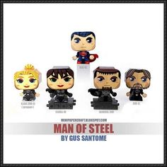 Superman - Man of Steel Mini Papercraft Series Free Templates Download - http://www.papercraftsquare.com/superman-man-of-steel-mini-papercraft-series-free-templates-download.html