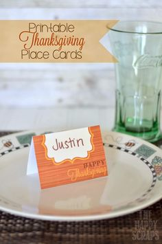 Thanksgiving Printable-Place-Cards
