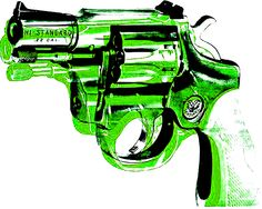Warhol  Andy Green  Gun 16 x 20