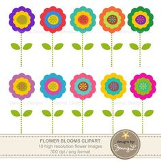 These FREE: Colorful Flower CLIPARTS are ideal for creating various art projects, classroom decors, teaching materials, digital scrapbooking, making invitations, other creative fun projects at school or home. PRODUCT DESCRIPTION----------------------------------------------------------------------------- 10 pcs.