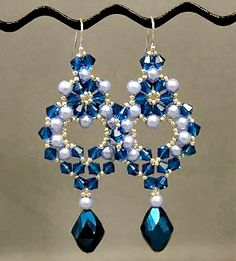 Linda's Crafty Inspirations: Princess Earrings - Pattern and video in Russian
