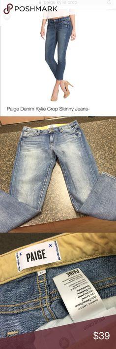 """Paige sz27 vintage wash """"Kylie crop"""" jeans Good used condition Paige sz27 vintage wash """"Kylie crop"""" jeans...inseam 25.5""""... Paige Jeans Pants Ankle & Cropped"""