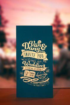 A invitación de la boda en Behance