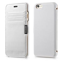 iCarer iPhone 6 Genuine Real Leather Card Slot Luxury Series Side Open Wallet Case Cover