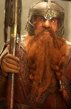 """John Rhys-Davies as """"Gimli"""" in Lord of the Rings"""