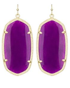 Danielle or Elle Earrings in Purple Jade - Kendra Scott Jewelry