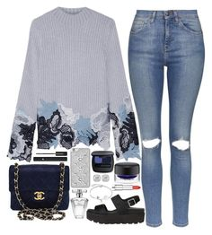 """""""❤"""" by polinachaban ❤ liked on Polyvore featuring Topshop, 3.1 Phillip Lim, Bare Escentuals, MICHAEL Michael Kors, Chanel, Avon, Disney, Frederic Sage, MAC Cosmetics and Maybelline"""
