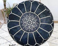 Arts & Traditional Handicrafts Shop by VistaModo on Etsy Moroccan Home Decor, Moroccan Pouf, Leather Pouf Ottoman, Floor Pouf, Square Photos, Boho Decor, Handicraft, Poufs, Flooring