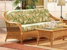 Lakeworth Rattan Sofa  Sofa: Measures 84
