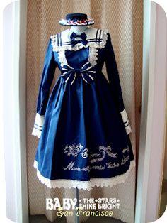 Marie's Sailor #OP #BTSSB #BabyTheStarsShineBright #Lolita #pretty #bows #blue
