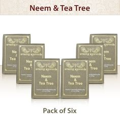 Amazing Ayurveda Premium Handmade Soap- Gentle Handmade 100% Cold Pressed Soap Made Using Nature's Finest Herbs And Oils- No Synthetic Preservatives,Colors or Fragrances. 4.4 Ounce. Neem and Tea Tree (Pack of 6) *** Review more details here : Skin care